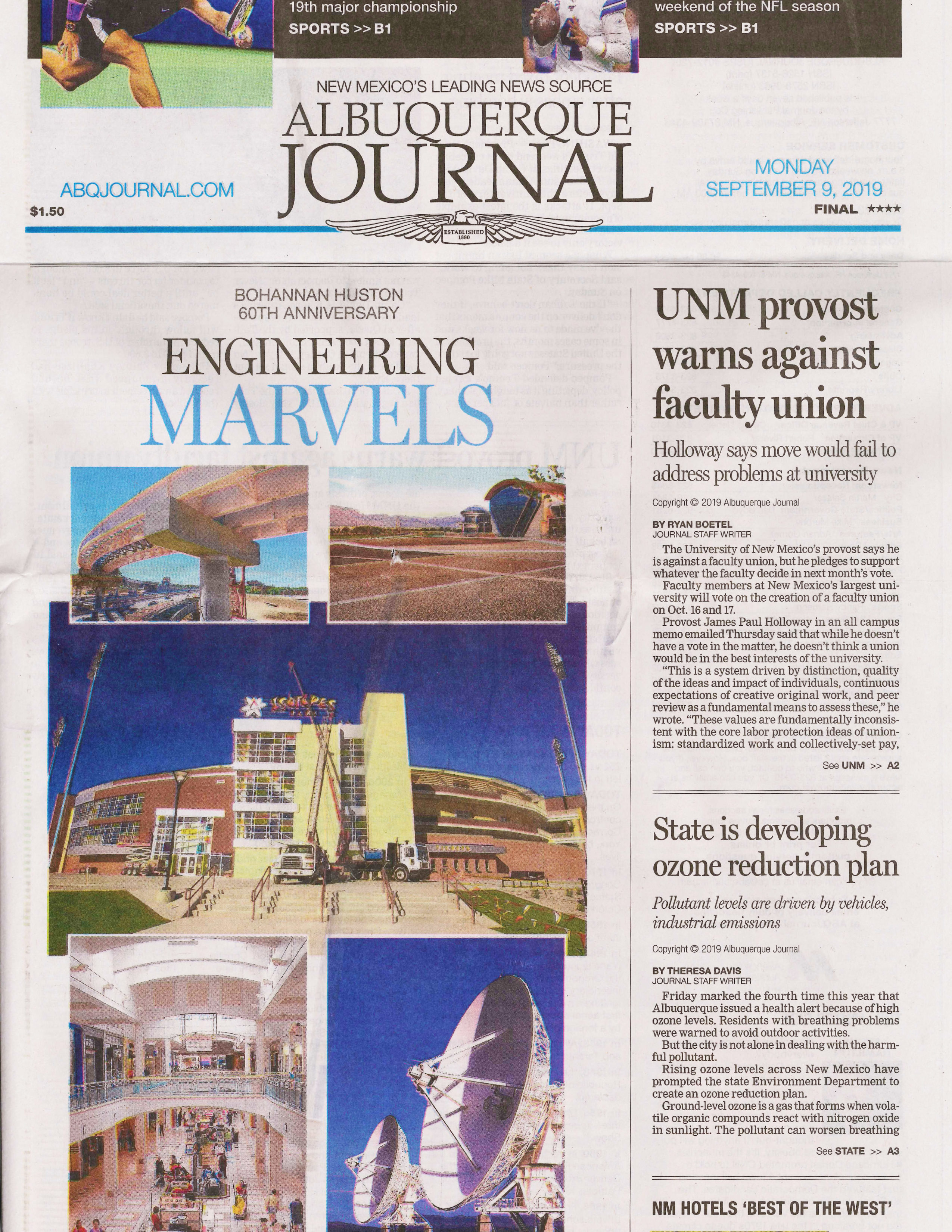 ABQ Journal cover image