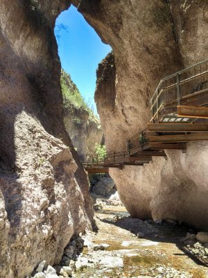 D617 Catwalk New Cantilevered in Slot Canyon
